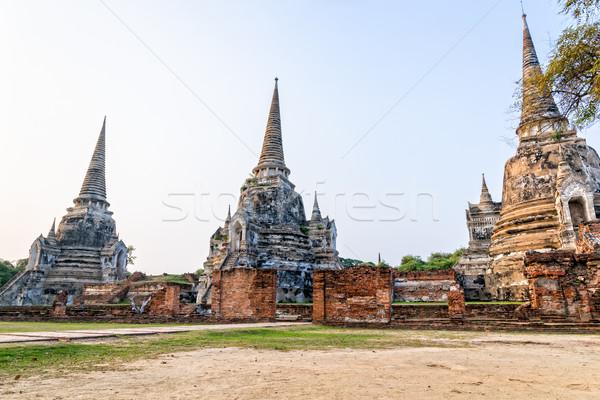 Wat Phra Si Sanphet, Thailand Stock photo © Yongkiet