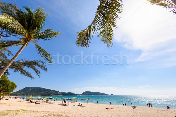 Beautiful landscape Hat Patong Beach Stock photo © Yongkiet