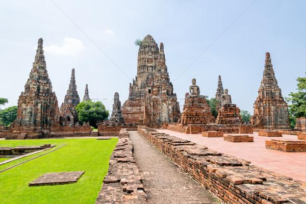 Eski budist tapınak ünlü turistik dini Stok fotoğraf © Yongkiet