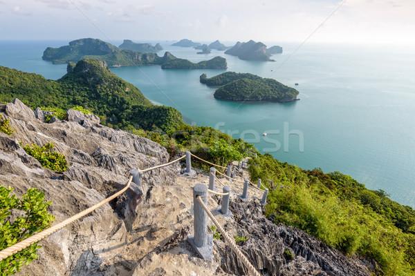 Correia marinha parque escada para cima cênico Foto stock © Yongkiet