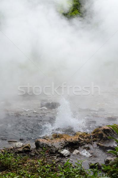 Primavera naturalmente água quente natureza água montanha Foto stock © Yongkiet