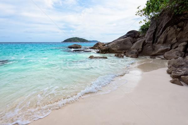 Stockfoto: Klein · strand · Thailand · mooie · landschap · Blauw