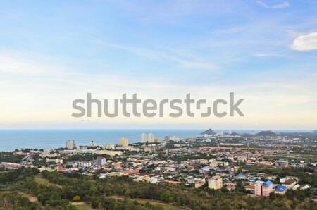 Beautiful landscaped of Hua Hin city Stock photo © Yongkiet