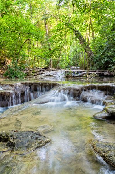 Waterval Thailand mooie tropische park beroemd Stockfoto © Yongkiet