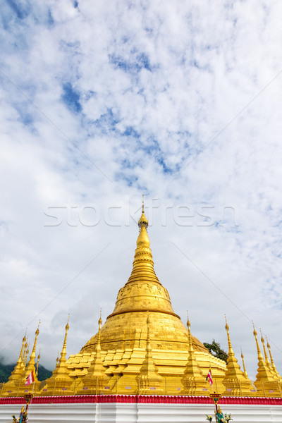 Tachileik Shwedagon Pagoda Stock photo © Yongkiet