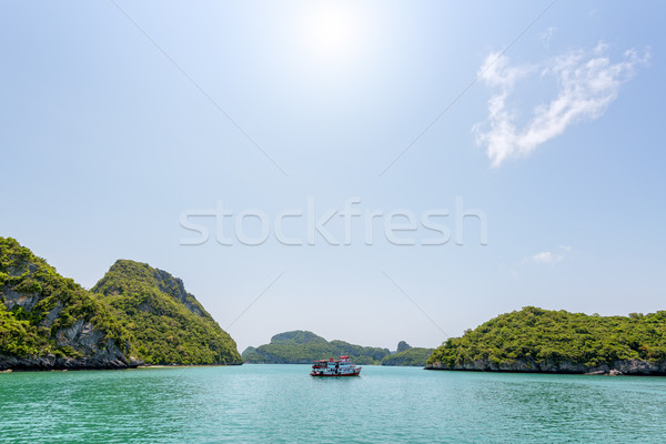 Stock photo: Boat for travel anchored in the sea