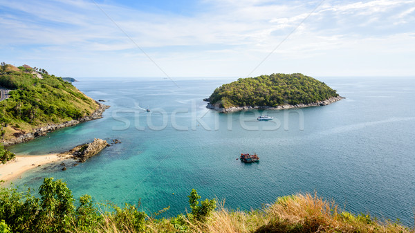 Vue île mer belle paysage Photo stock © Yongkiet