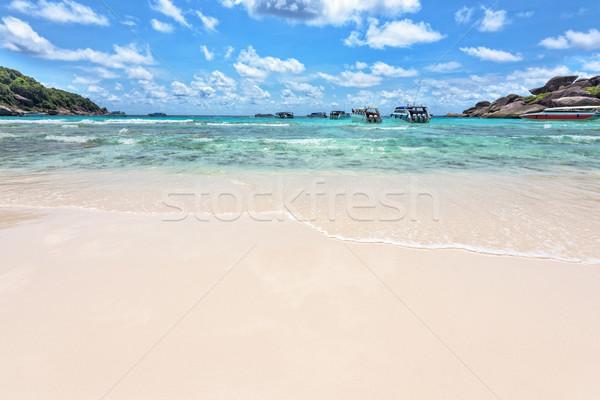 Spiaggia mare Thailandia panorama bella Foto d'archivio © Yongkiet