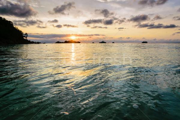 Nascer do sol Tailândia belo paisagem manhã céu Foto stock © Yongkiet