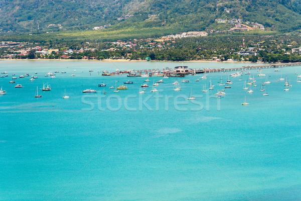 Görmek deniz iskele seyahat tekne phuket Stok fotoğraf © Yongkiet