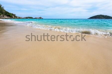 Playa olas parque Tailandia hermosa paisaje Foto stock © Yongkiet
