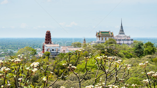 Pagoda on mountain in Phra Nakhon Khiri temple Stock photo © Yongkiet