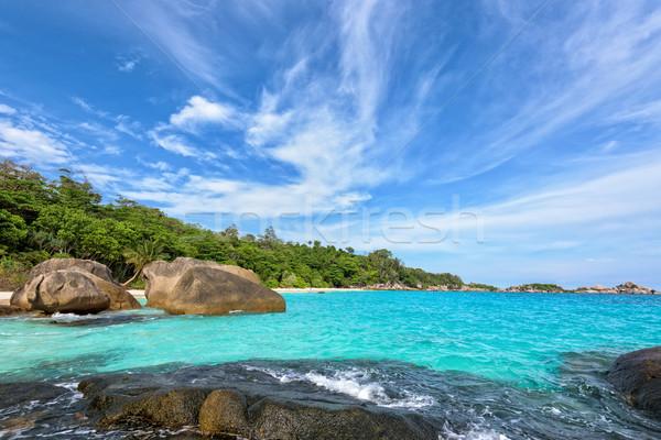 Estate mare Thailandia bella panorama cielo blu Foto d'archivio © Yongkiet
