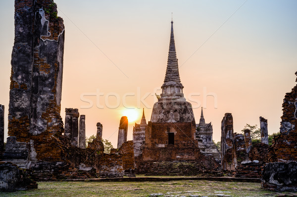 Thailand ruines pagode oude architectuur oude Stockfoto © Yongkiet