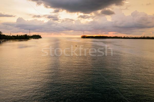 Deniz gün batımı köprü phuket gökyüzü güneş Stok fotoğraf © Yongkiet