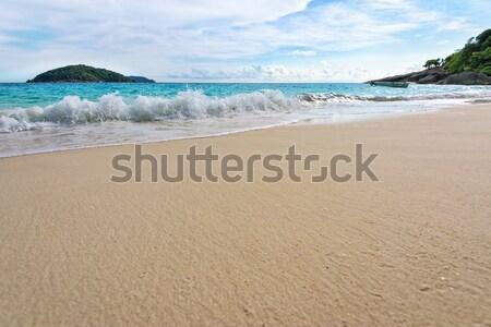 Plaży fale parku Tajlandia piękna krajobraz Zdjęcia stock © Yongkiet