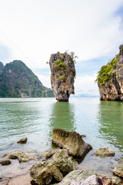 Landscape Khao Tapu or James Bond Island Stock photo © Yongkiet