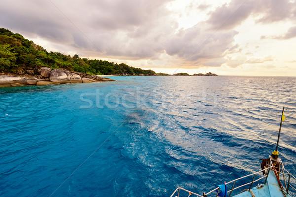 Blue sea and sky at Koh Miang Thailand Stock photo © Yongkiet