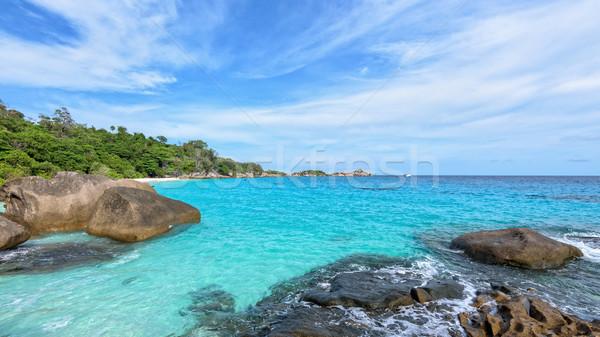 Zomer zee Thailand mooie landschap blauwe hemel Stockfoto © Yongkiet