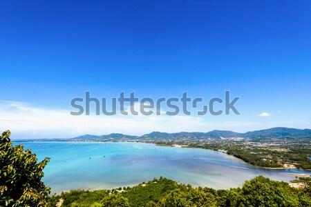 Görmek deniz gökyüzü turist kasaba phuket Stok fotoğraf © Yongkiet
