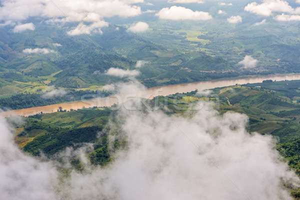 High angle view of Mekong River Stock photo © Yongkiet