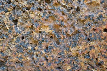 Steen oppervlak bodem rijke ijzer aluminium Stockfoto © Yongkiet