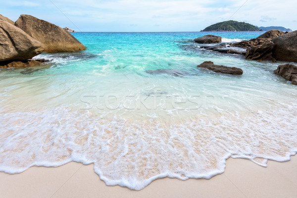 Estate spiaggia Thailandia bella natura blu Foto d'archivio © Yongkiet