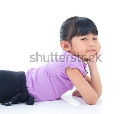 Asiático criança retrato belo criança juventude Foto stock © yongtick