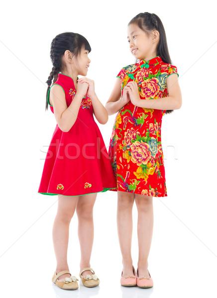 asian kids Stock photo © yongtick