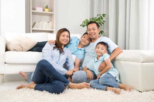 アジア 家族 肖像 幸せ 母親 ストックフォト © yongtick