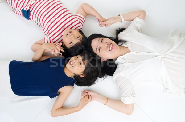 Asiático família mulher mãe criança chinês Foto stock © yongtick