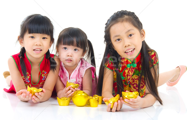 asian kids Stock photo © yongtick