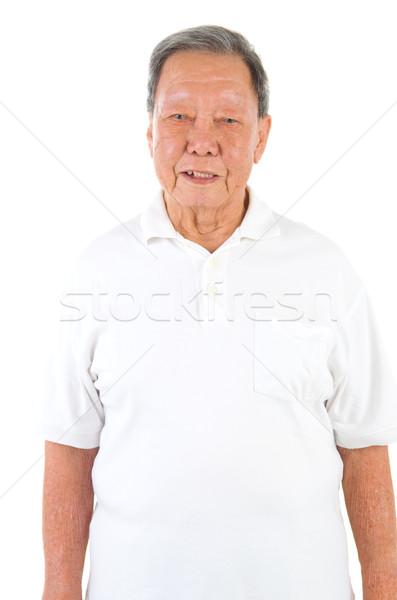 asian senior man Stock photo © yongtick