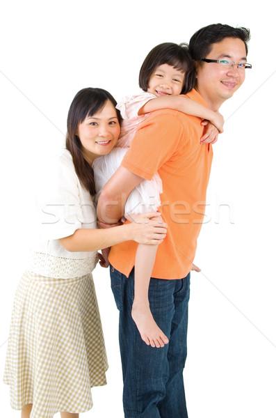 Asian famiglia ritratto bella ragazza Foto d'archivio © yongtick