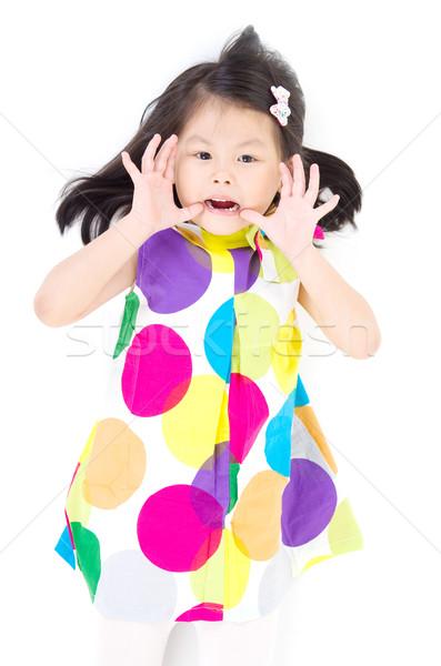 アジア 少女 笑顔 幸せ 子 子供 ストックフォト © yongtick