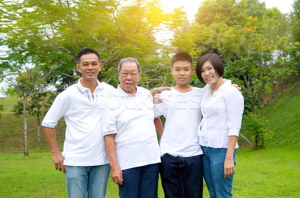 Multi-Generation Chinese Family Stock photo © yongtick