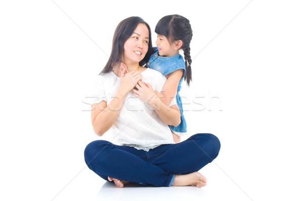 アジア 家族 母親 娘 女性 美 ストックフォト © yongtick