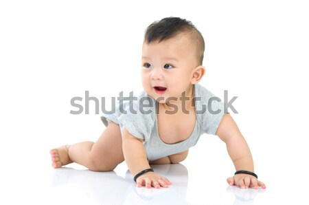 アジア 赤ちゃん 美しい 少年 背景 ストックフォト © yongtick