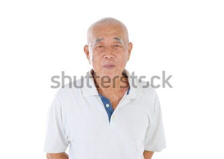 Asian senior maschio felice uomo salute Foto d'archivio © yongtick