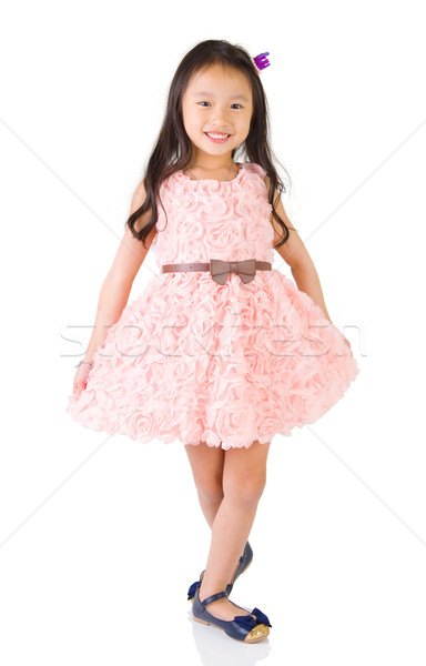 Asiático criança retrato belo sorrir moda Foto stock © yongtick