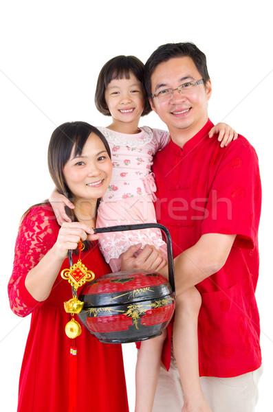 旧正月 アジア 家族 祝う 女性 幸せ ストックフォト © yongtick