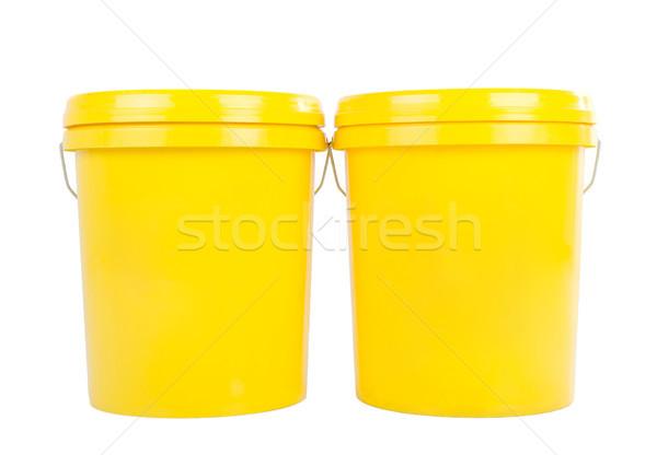 Endüstriyel yağ yağlayıcı madde ürün sarı plastik Stok fotoğraf © yongtick
