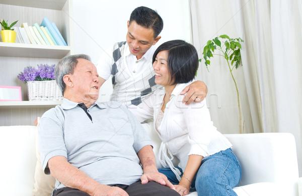 ストックフォト: アジア · 家族 · シニア · 父 · 成人
