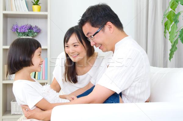 Asiático família casa casa crianças Foto stock © yongtick