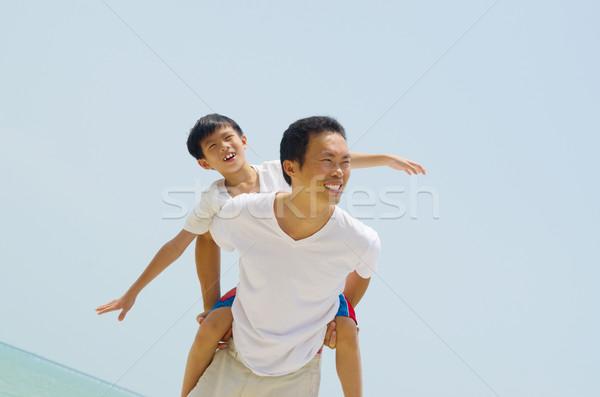 アジア 家族 幸せ 父 ストックフォト © yongtick