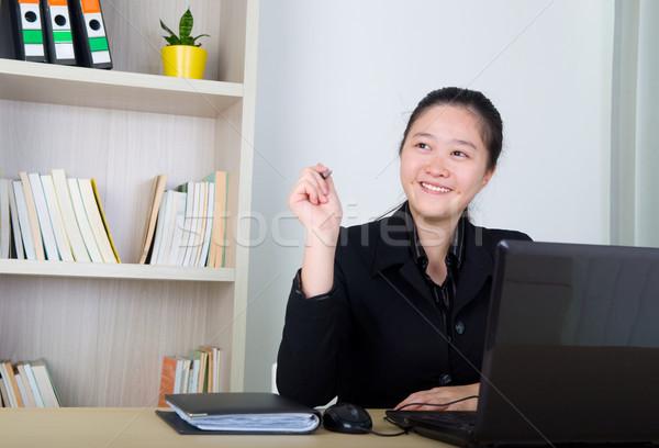 Asiático mulher de negócios jovem negócio mulheres trabalhando Foto stock © yongtick