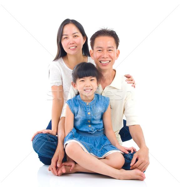 Asiático retrato de família família mulher homem mãe Foto stock © yongtick