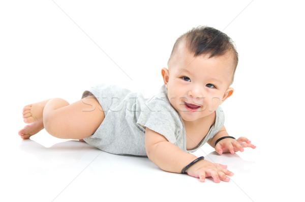 Asiático bebê belo menino fundo Foto stock © yongtick