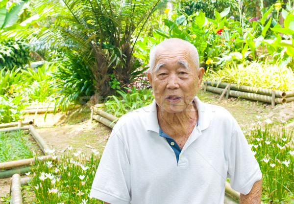 笑みを浮かべて アジア シニア 男 肖像 家族 ストックフォト © yongtick
