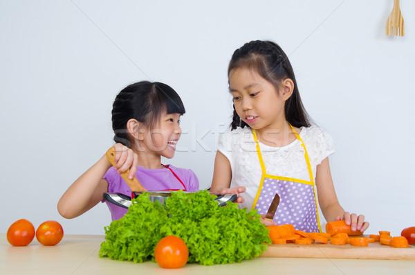 アジア 子供 料理 健康的な食事 食品 ストックフォト © yongtick